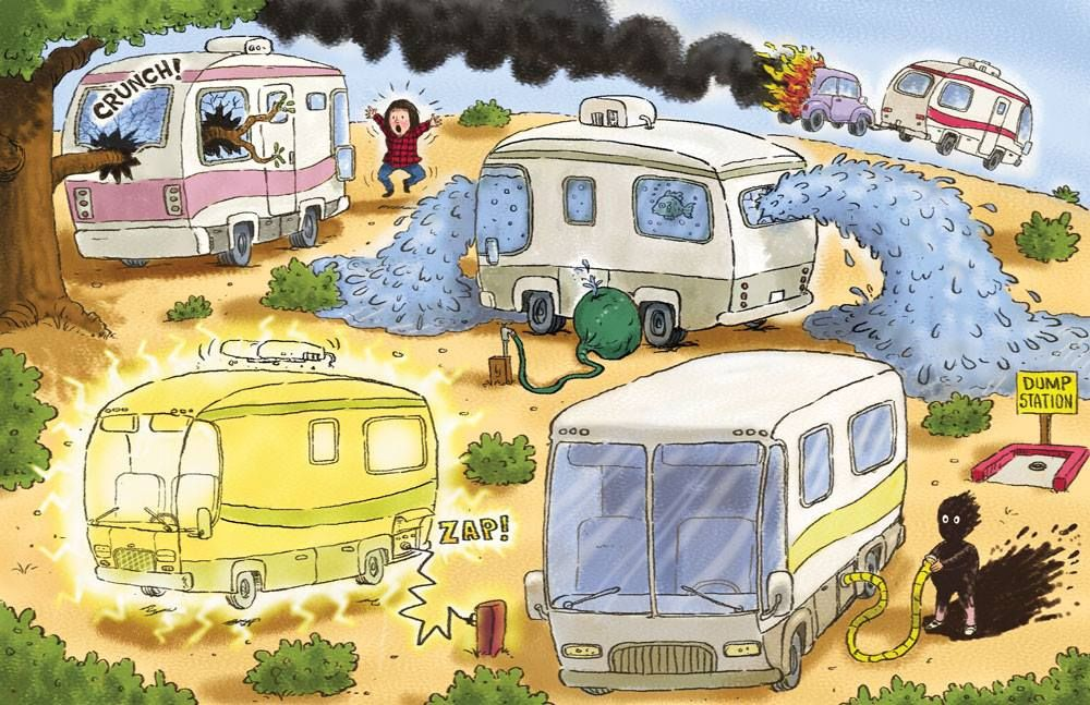 Funny Camping Trailer Mishaps So True Camping Cartoon