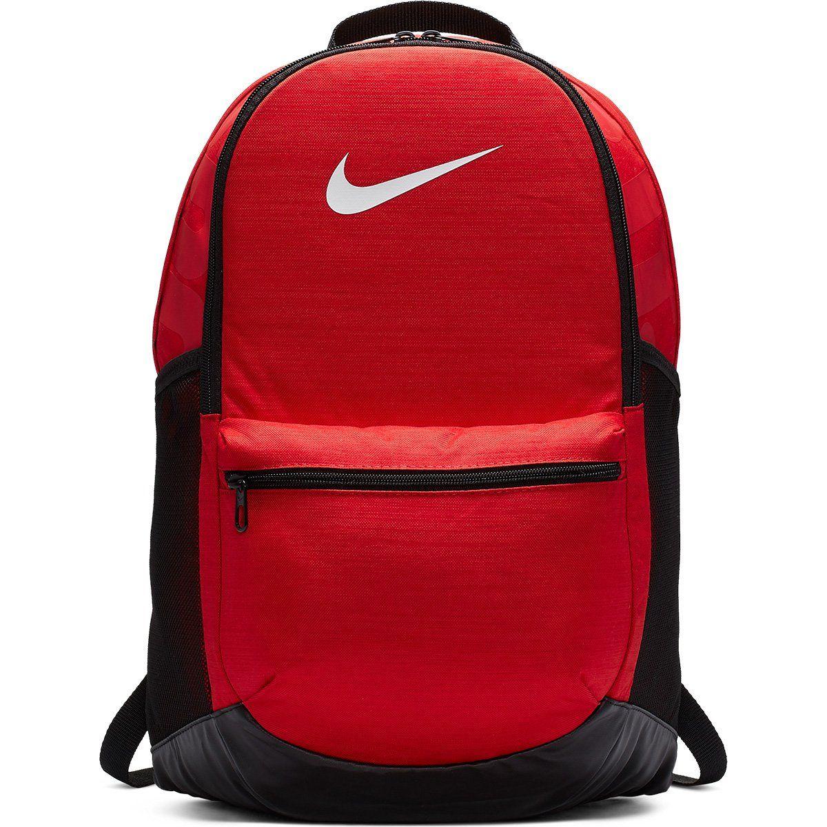 Mochila Nike Brasília M 24 Litros Vermelho e Preto