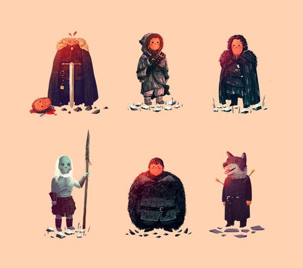 Latest Funny Ilustrations Simpáticas ilustraciones de los personajes de Game of Thrones Funny Ilustrations from Game of Thrones characteres 11