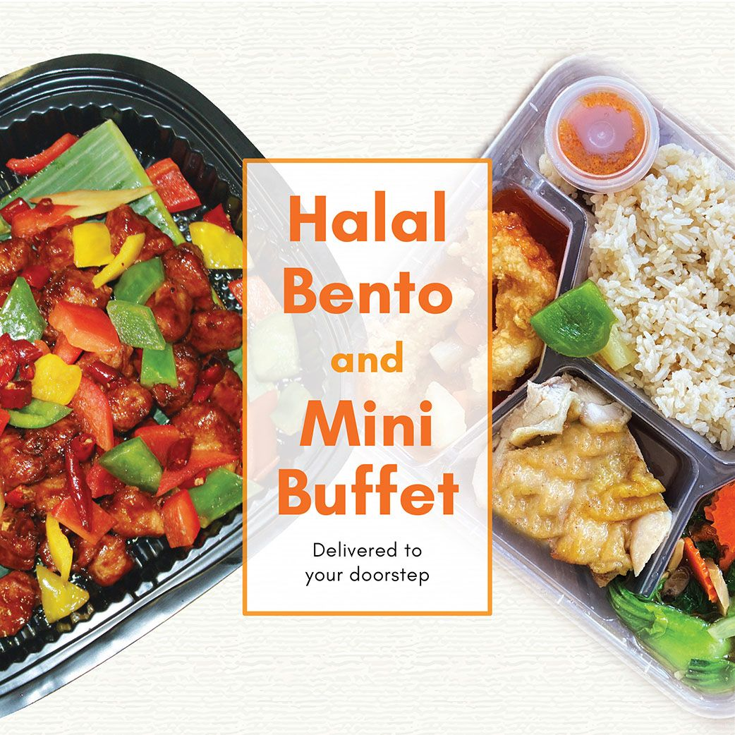 Halal Bento And Mini Buffet Delivery In 2020 Buffet Halal Catering