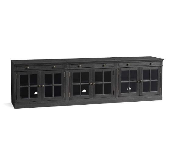 Livingston 105 Quot Tv Stand Dusty Charcoal Pottery Barn