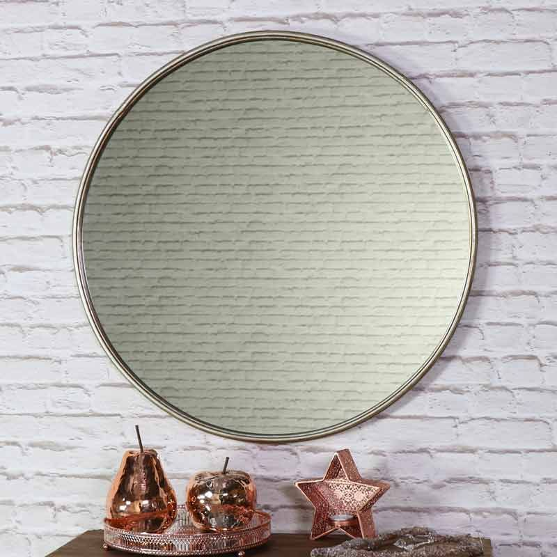 Large Round Vintage Gold Wall Mirror 70cm X 70cm Gold Wall Mirror