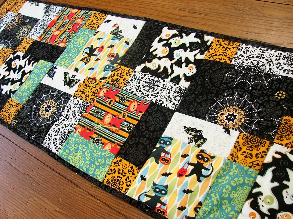 Adorable Halloween Table Runners Quiltings Pinterest