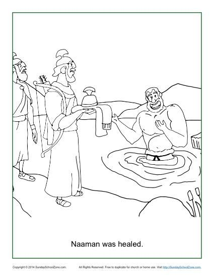 Naaman Was Healed Coloring Page Sunday School Coloring Pages