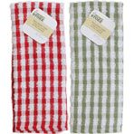 The Home Store Checked Terry Kitchen Towels   $1