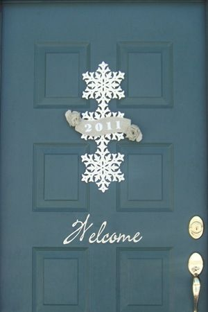 From our front door to yours...front door holiday decor