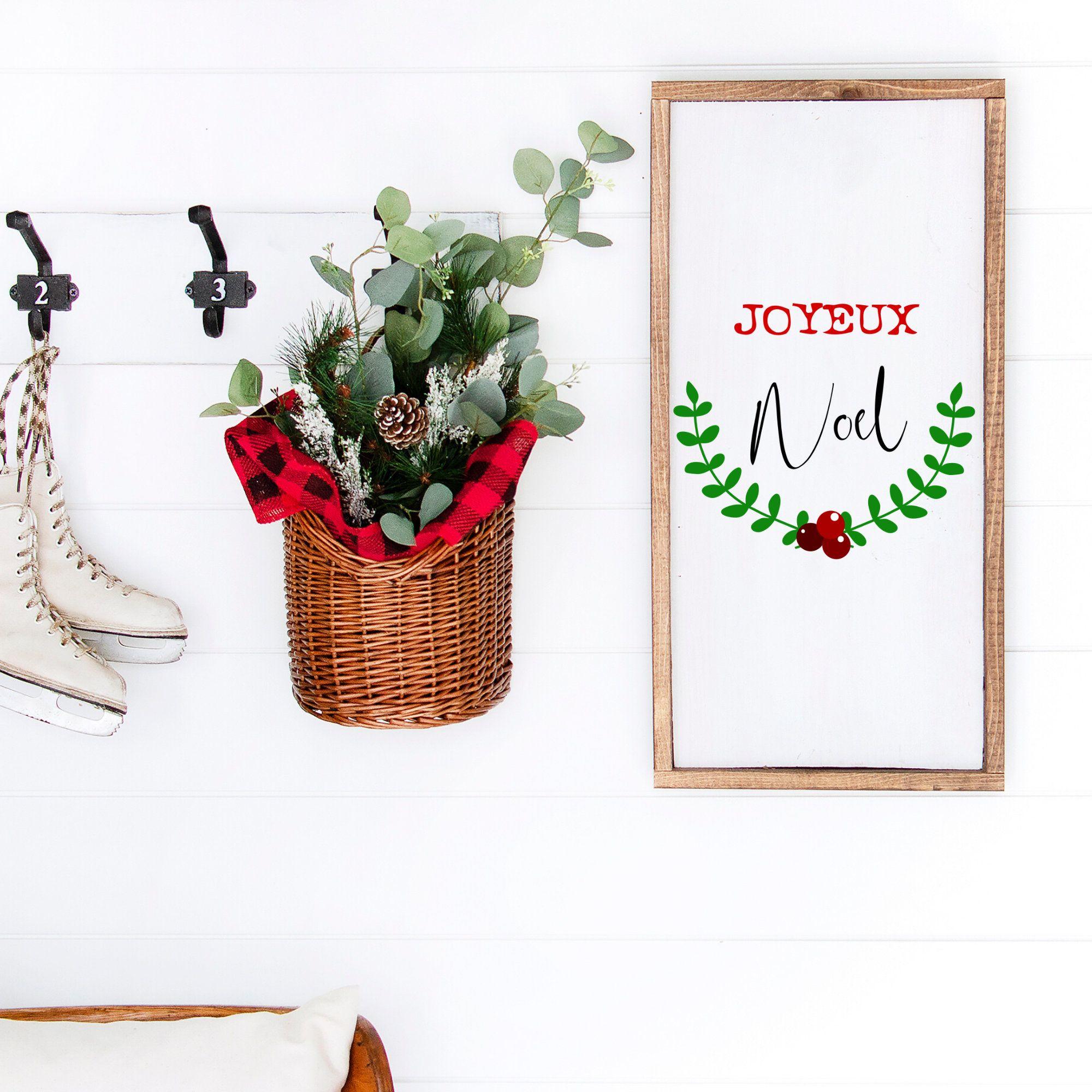 Joyeux Noel SVG Holly Art Christmas Wreath Christmas