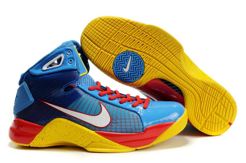 Nike Hyperize Kobe Bryant Olympic 1 Blue Yellow Red Shoes
