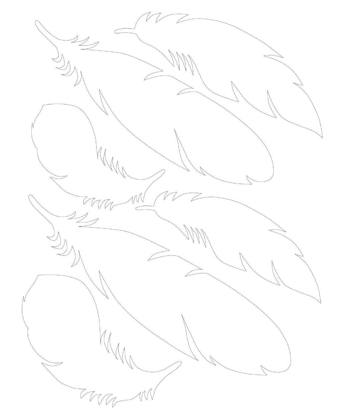 Paper Feather Template In