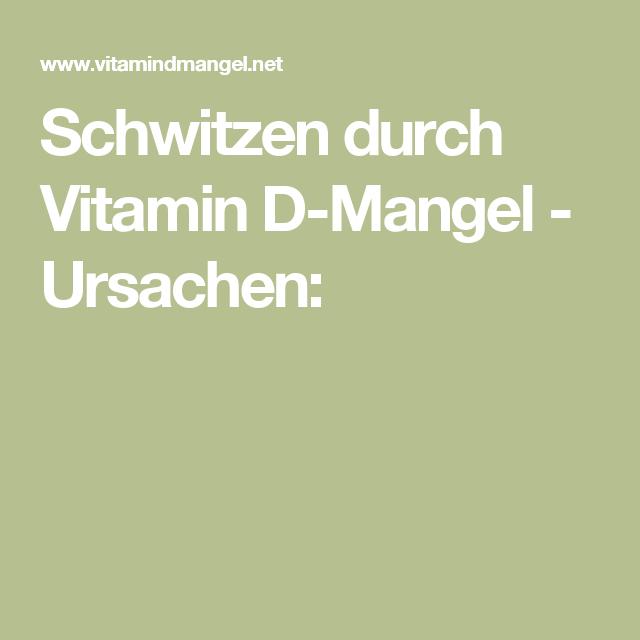 Vitamin d mangel ursachen