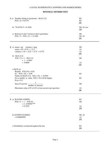 Solutions Binomial Distribution Doc Statistics