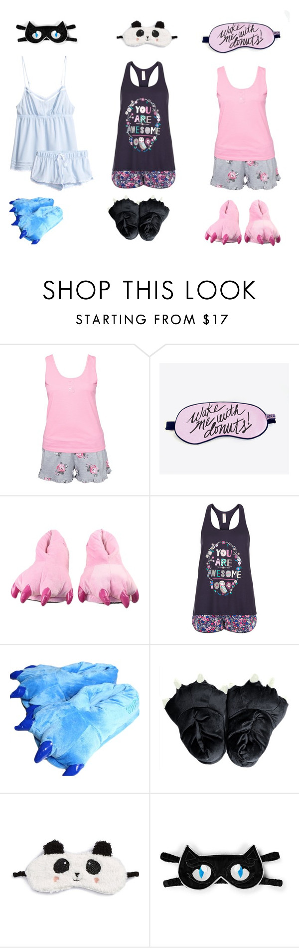 """""""Claw slippers"""" by pandoraprincess15 ❤ liked on Polyvore featuring beauty, Hunkemöller, Accessorize, P.J. Salvage, Karl Lagerfeld and H&M"""