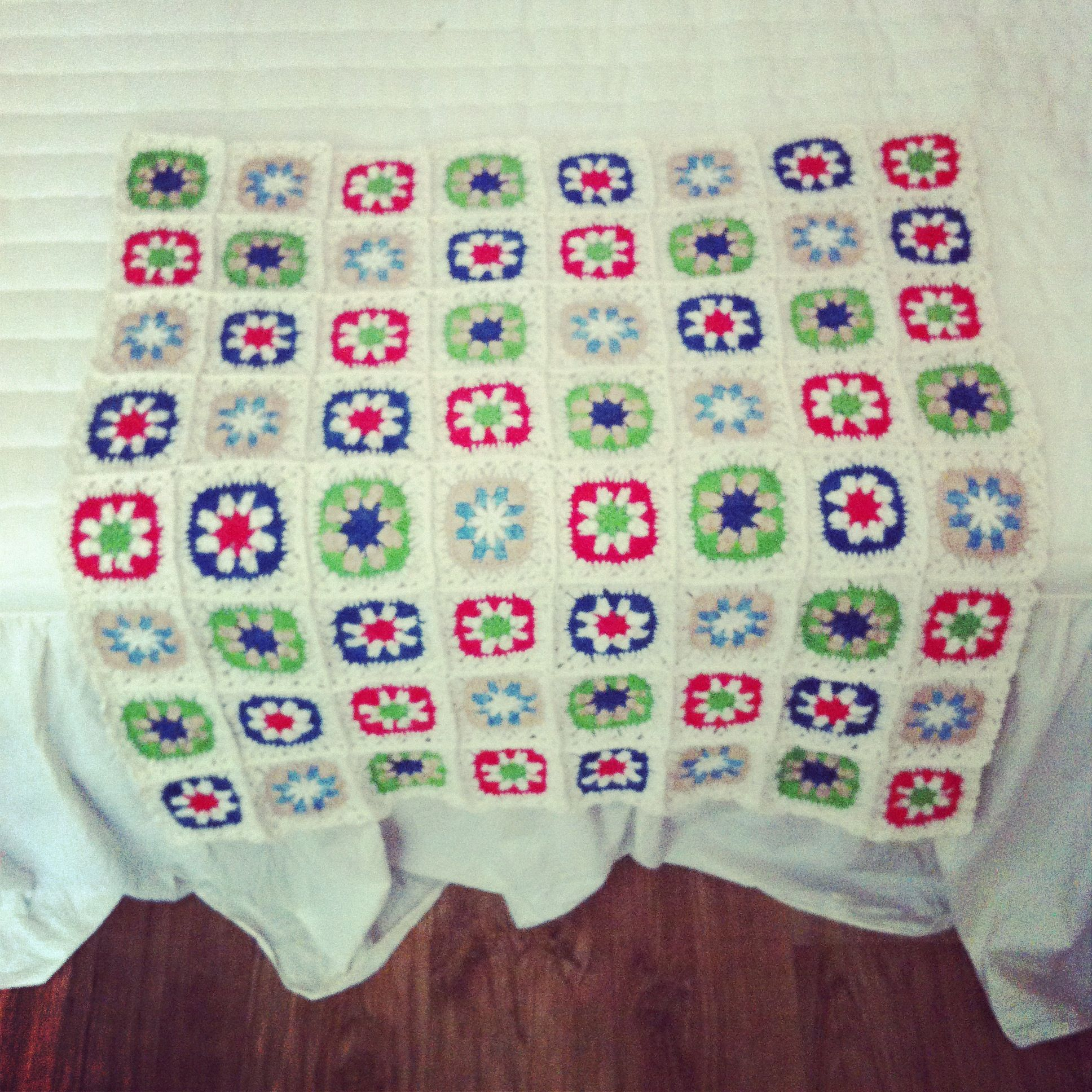 motif blanket for my nephew...불규칙적인배치!음!