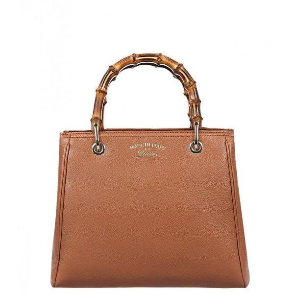 Gucci Tan Leather Bamboo Shopper Tote Bag