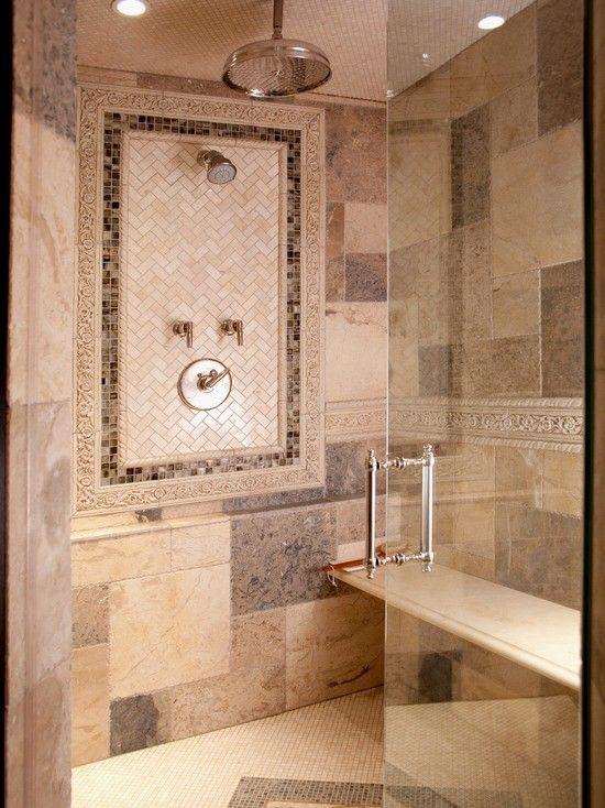 Herringbone Tile Shower Design Pictures Remodel Decor And Ideas Magnificent Bathroom Designer Chicago Design Ideas
