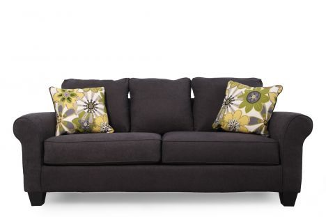 Ash 1650138 Ashley Nolana Charcoal Sofa Mathis Brothers Furniture 400