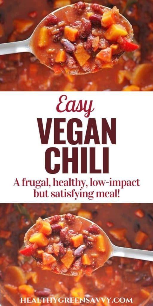 Vegetarian/vegan chili recipe ~ Satisfying meatless meals like this vegan chili ... - -