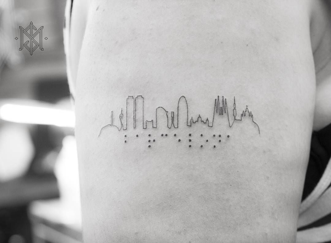 30 Los Angeles Skyline Tattoo Designs For Men – Southern California Ink Ideas images