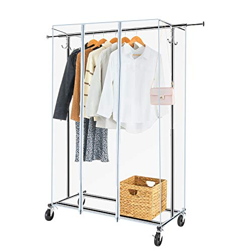 Greenstell Garment Rack With Pvc Cover On Wheels Heavy Duty