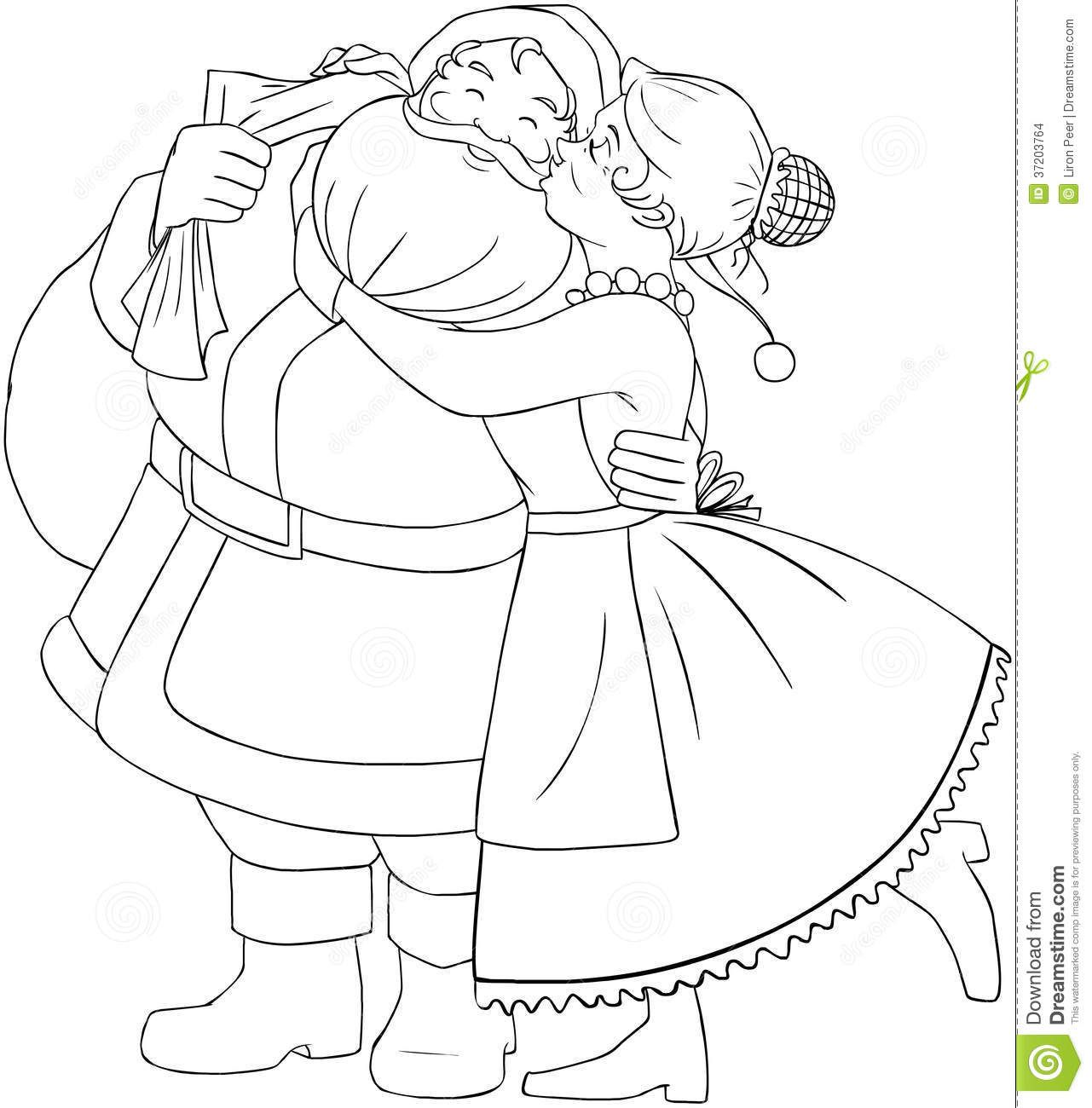 Santa Claus Coloring Pages Mrs Claus Christmas Coloring Page