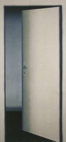 Sirius's apartment door that adaila accidentally took a picture of when he was rushing her to shag after their day in muggle London together | July 1976