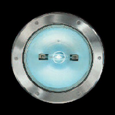 Maxi Petra Empotrable para suelo TC-D 2x26 G24 d-3 Estructura de aluminio, aro de cierre de acero inoxidable Cristal (transparente, mate o antideslizante) H 320mm, diámetro 302mm