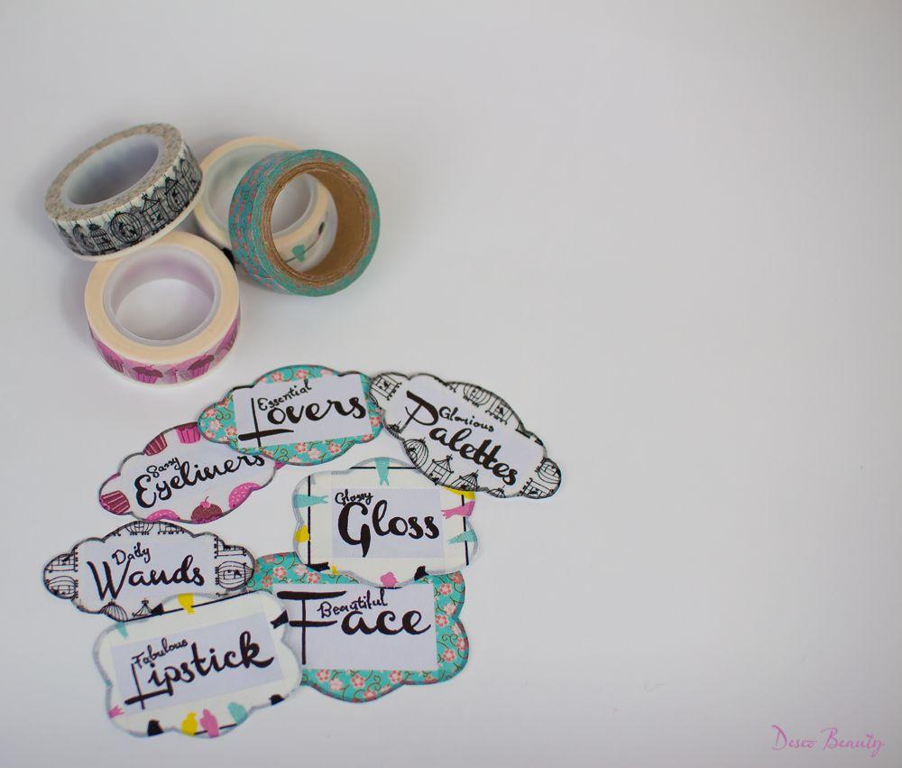 Etiquetas imprimibles gratis para organizar tu maquillaje!