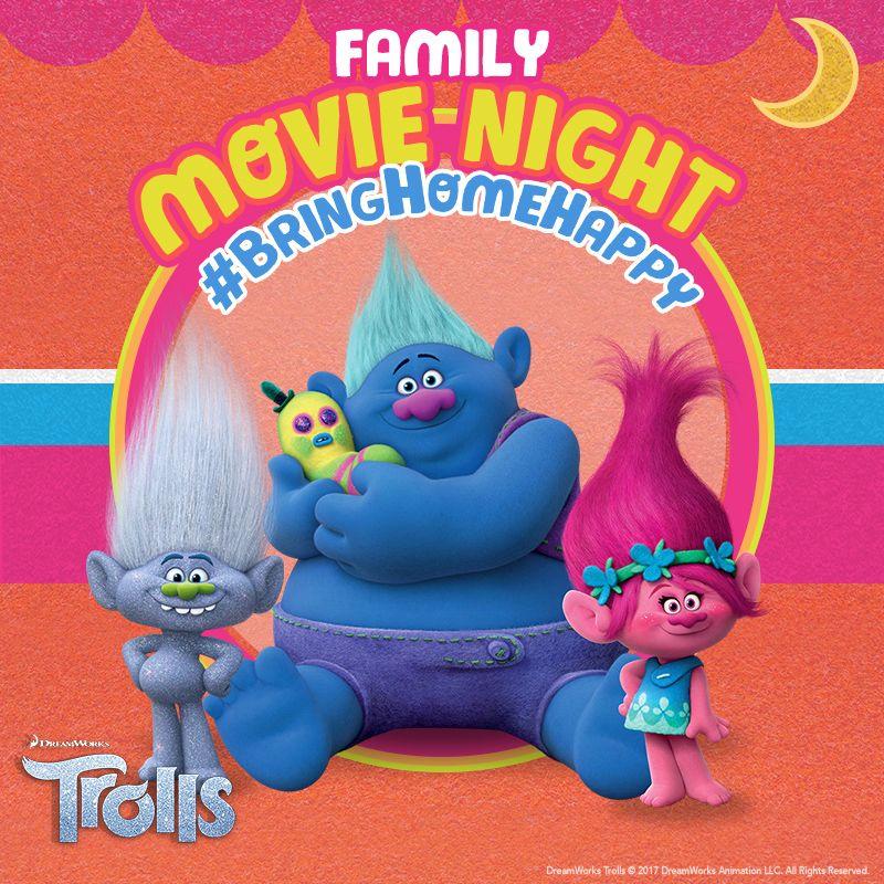 Bring home happy and make it a family movie night with Dreamworks Trolls!  #DreamworksTrolls #BringHomeHappy #FamilyMovieNight