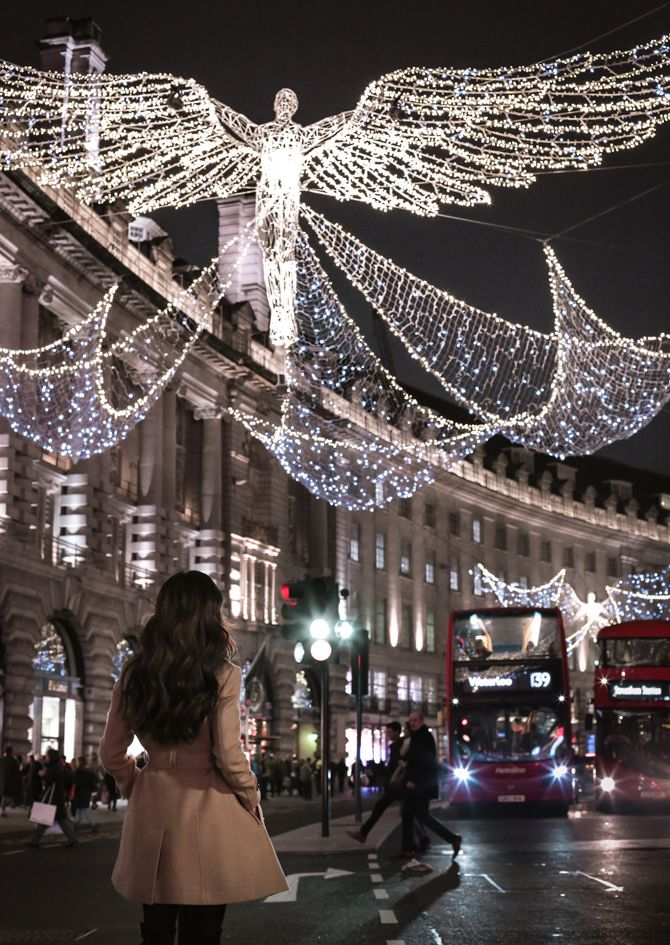 Piccadilly Circus London travel guide Christmas Holiday Lights - Christmas In London + Our Apartment Rental (airbnb) Experience