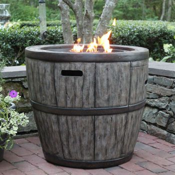 Wine Barrel 27 Quot Fire Table Outdoor Living Pinterest