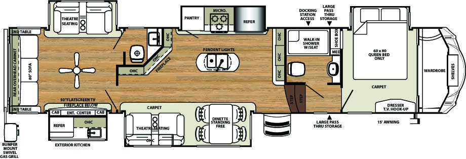 Sierra 387mkok Fifth Wheels By Forest River Rv Rv Floor Plans