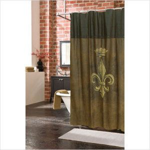 Fleur Dis Lis Shower Curtains Walmart Com Veratex Inc Fleur De