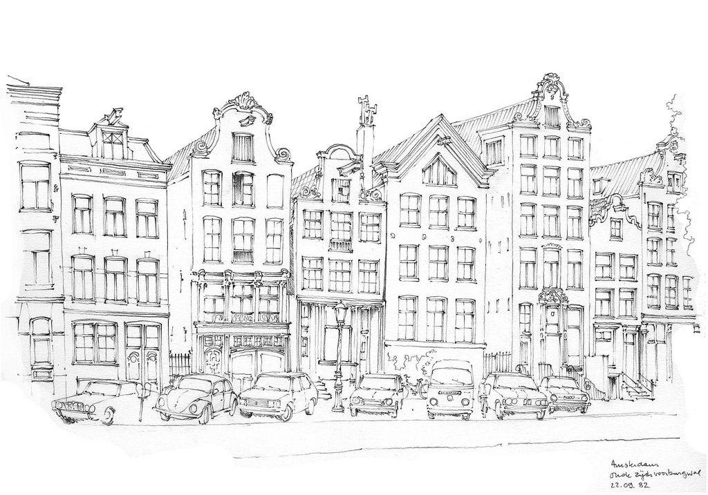 Amsterdam Oude Zijdsvoorburgwal Urban Sketching