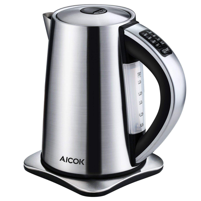 Amazon.com: Aicok Electric Kettle Variable Temperature Control ...
