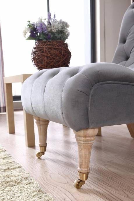 Vig Divani Casa Phoebe Grey Tufted Accent Chair Modern