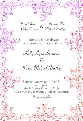 Floral Wedding Frame Printable Invitation Templates, Wedding Invitation Templates, Wedding Invitations, Free Printable