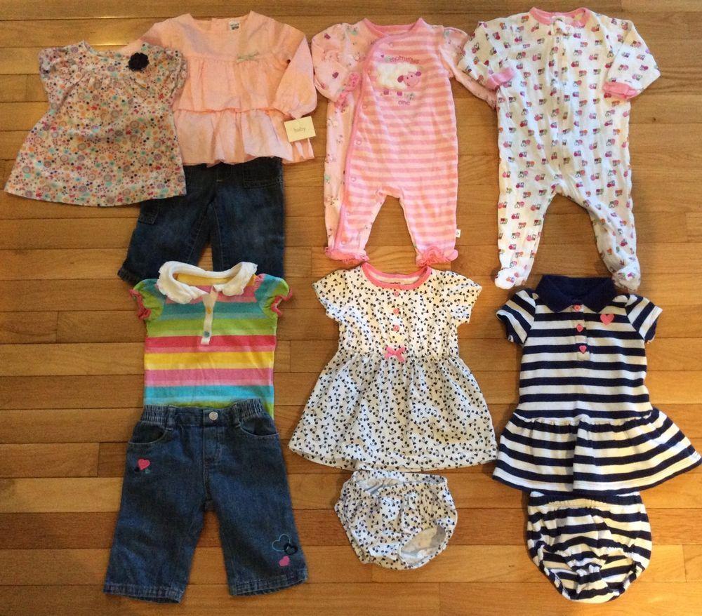 f7b8b50d7 Baby Girl Outfits Lot Set 6 9 Months Spring Summer Carters Dresses ...