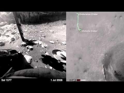 NASA Divulga Vídeo de 8 Minutos Com o Rover Opportunity Cruzando a Superfície de Marte [Vídeo] - Hipernovas