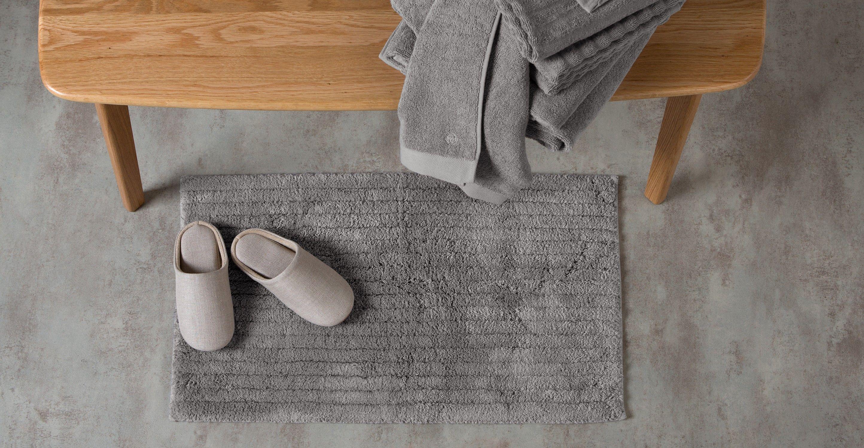Badezimmerteppich Grau ~ Alto badematte baumwolle elefantengrau