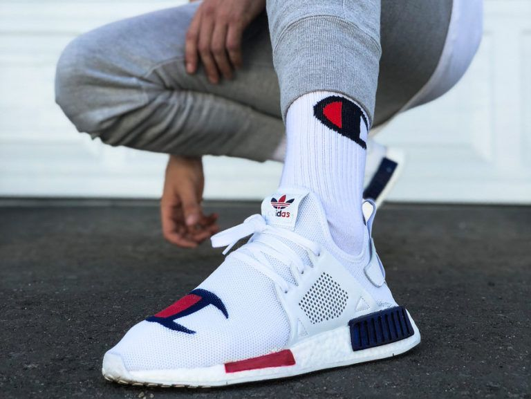 Champion x Adidas NMD XR1 on feet (couv) | Chaussure mode ...