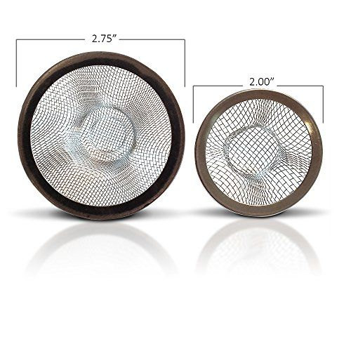 SNAGERZ Bathroom Drain Hair Stopper Strainers  Bathtub And Sink Drain 2  Sizes