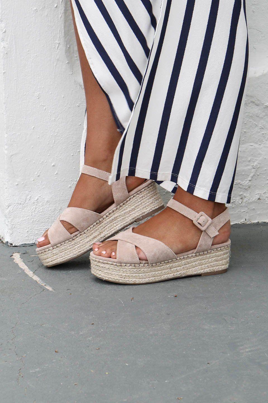 a9194c15b22 Cloud Nine Taupe Suede Platform Espadrilles | Cute Shoes ...