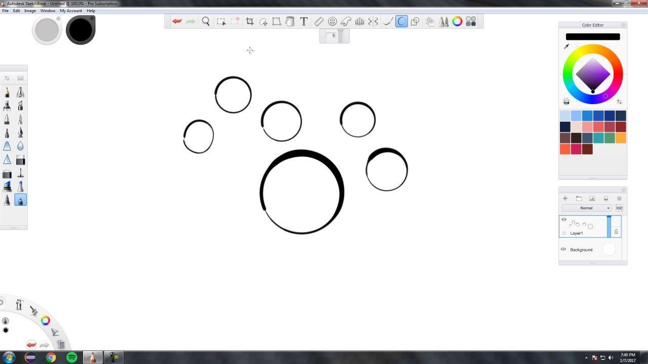 Autodesk Sketchbook Pro Predictive Stroke Line Smoothing Sketch