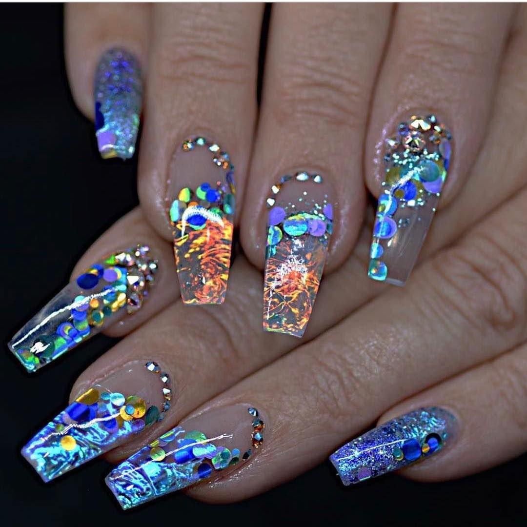 Fire and Ice Nails | POPSUGAR Beauty UK | Fabulous Nails | Pinterest ...
