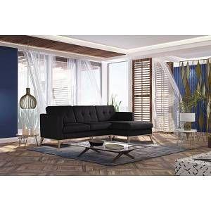 Canape D Angle 5 Places Noir Stella Cadente Maison Recife Toucher Lin En 2020 Angle Droit Maison Et Angles