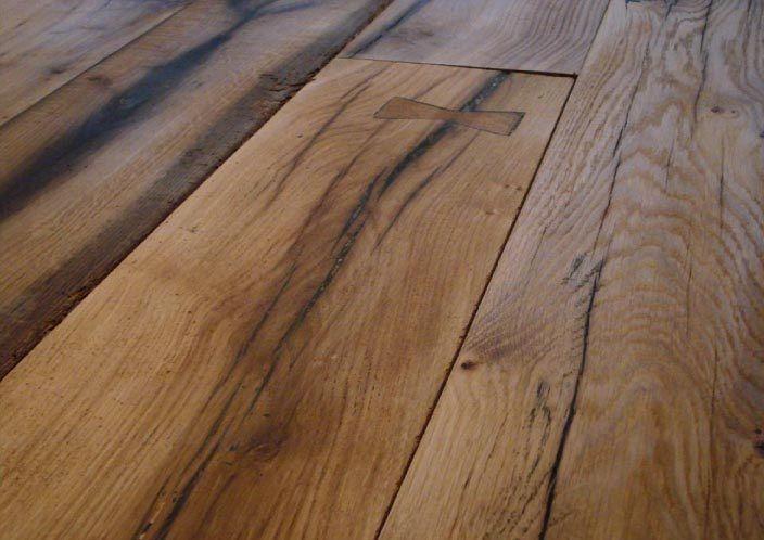 Rustic oak wooden floor wooden floors pinterest best for Salvaged oak flooring