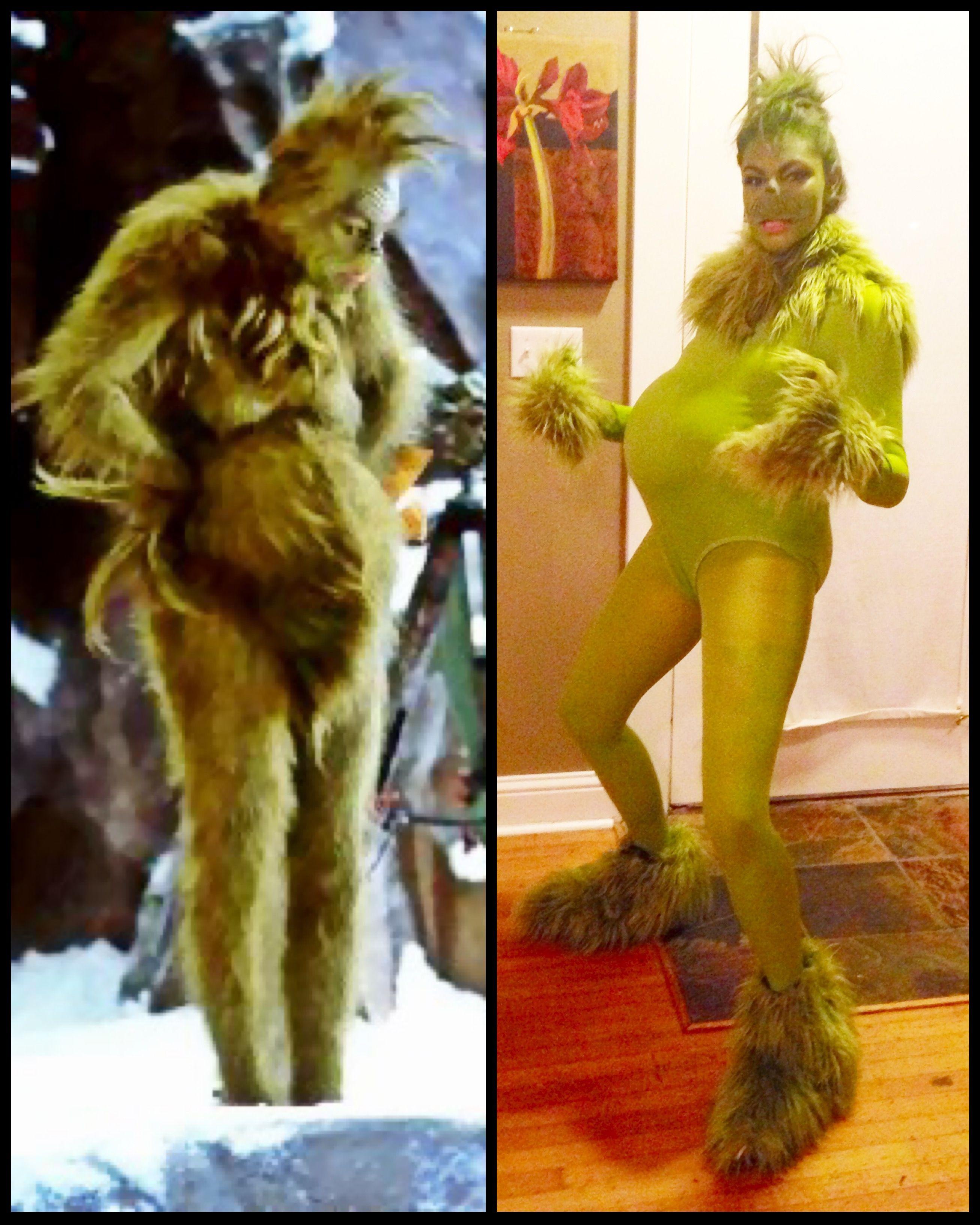 DIY GRINCH halloween Costume. Jim Carrey. Grinch