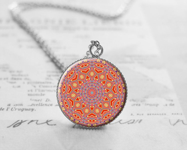 Medium Necklaces – Mandala Necklace, New Age, Spiritual, Hippie, N778 – a unique product by petiteVanilla on DaWanda