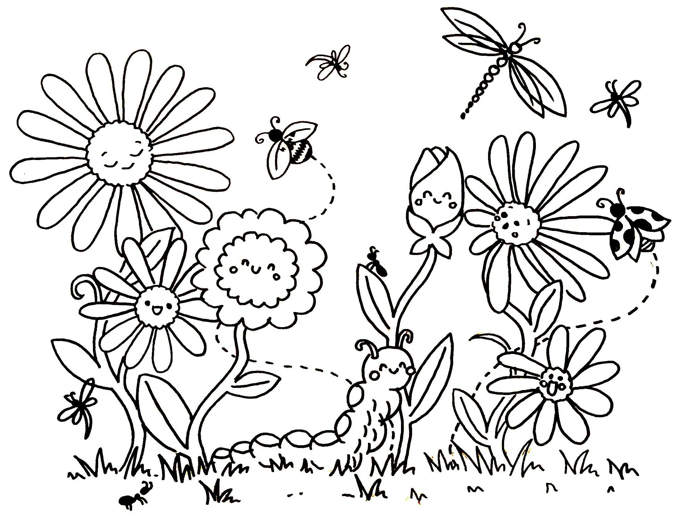Frühling | Blumen ausmalen, Ausmalbilder, Ausmalbilder ...