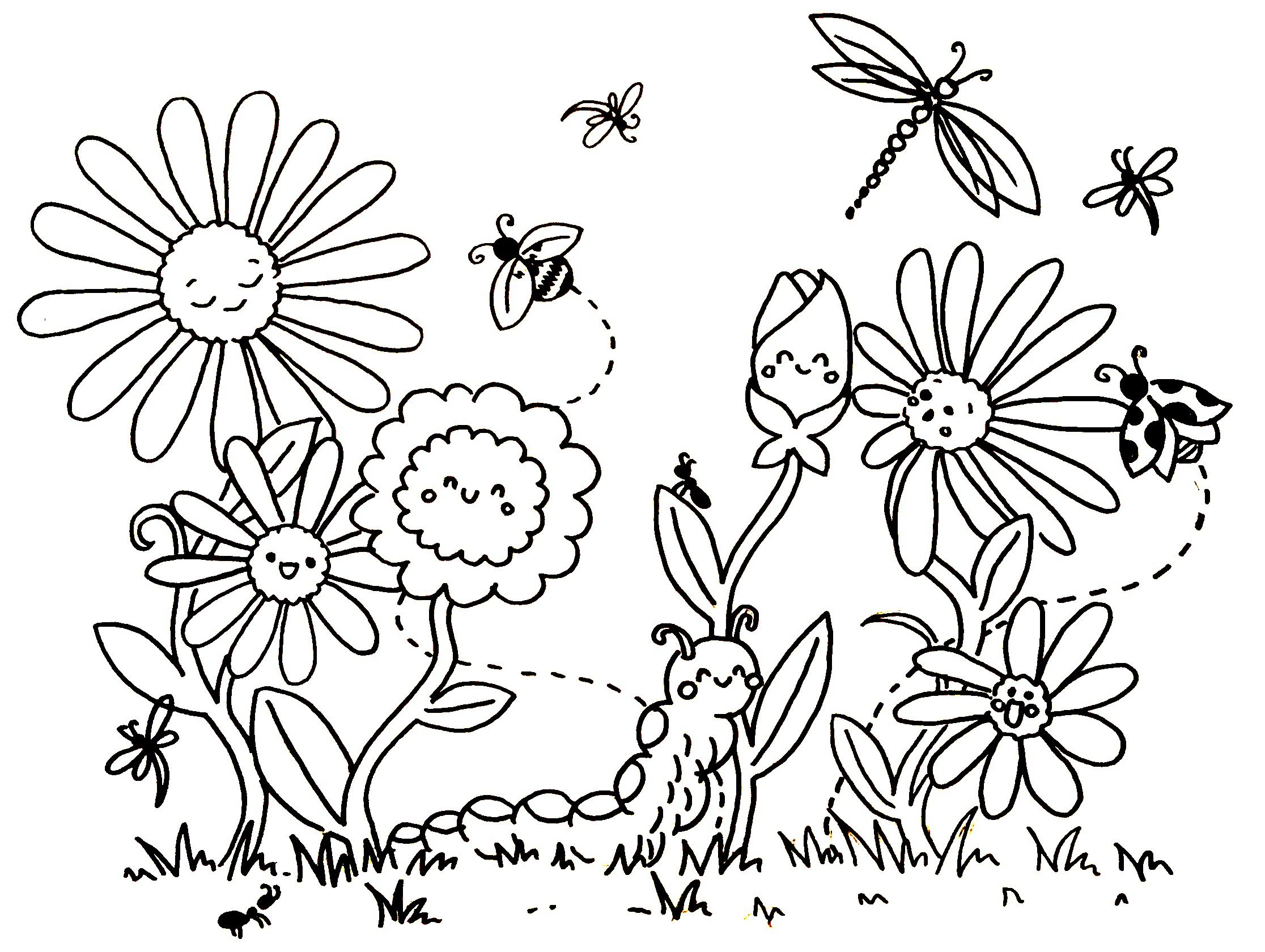 Fruhling Blumen Ausmalen Ausmalen Blumen Ausmalbilder
